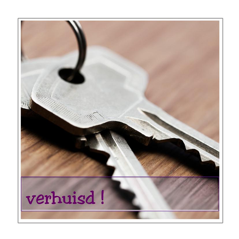 Verhuiskaarten - sleutels