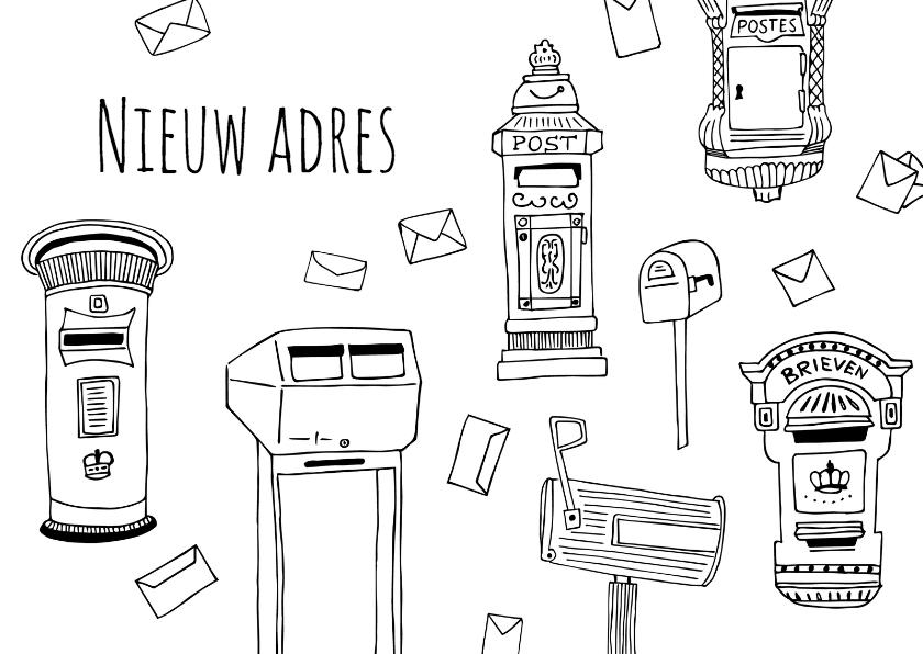 Verhuiskaarten - Verhuisbericht brievenbussen