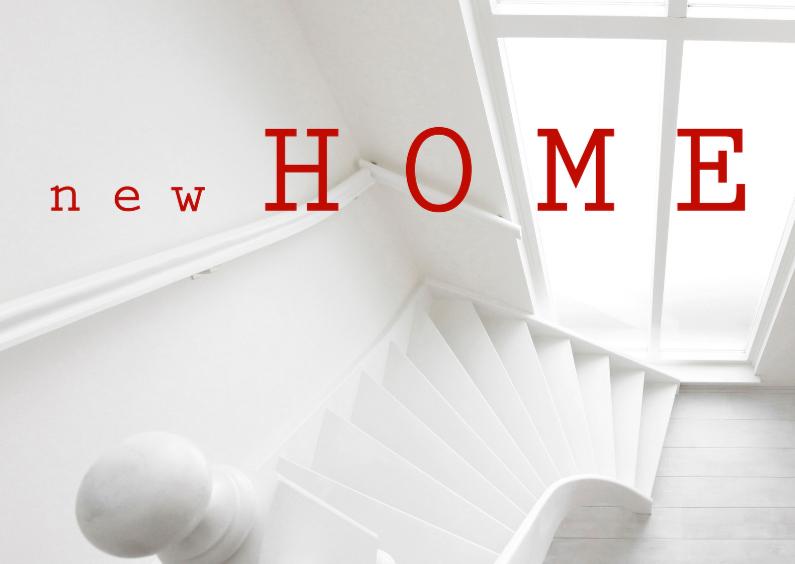 Verhuiskaarten - Verhuisbericht New Home Wit OT
