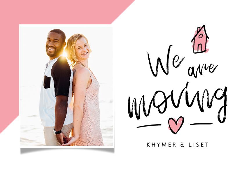 Verhuiskaarten - Verhuisbericht we are moving hip met foto