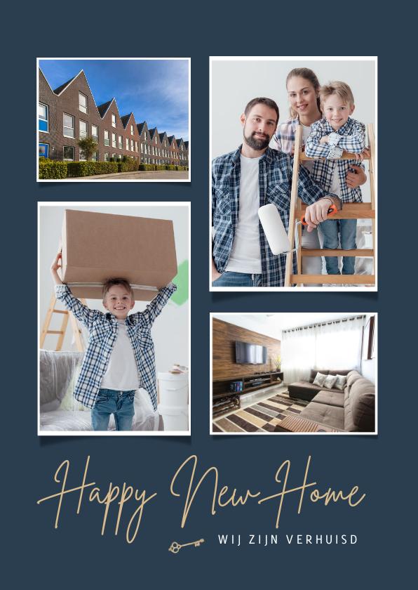 Verhuiskaarten - Verhuiskaart fotokaart happy new home sleutel