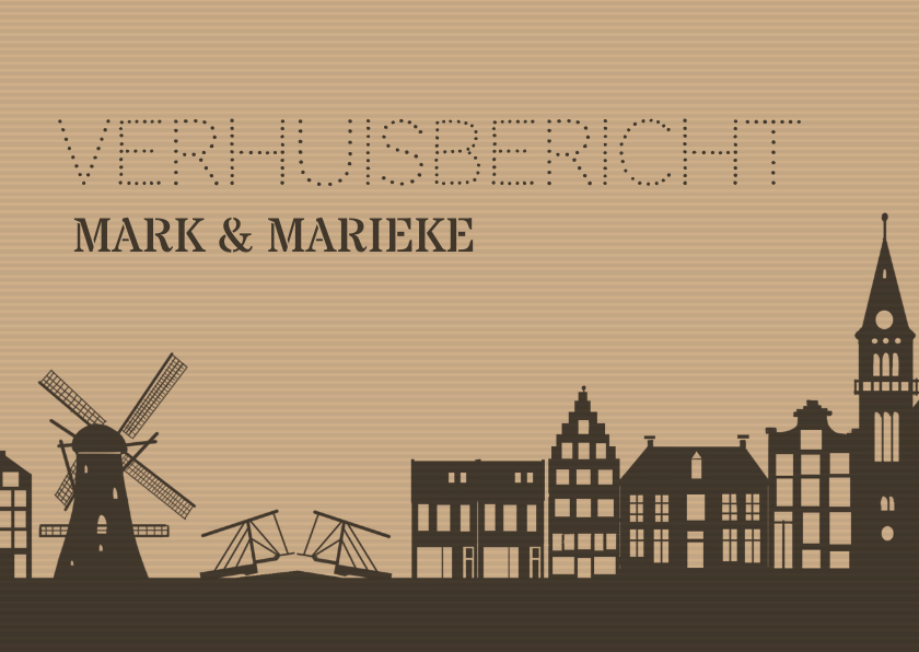 Verhuiskaarten - Verhuiskaart gevels holland av