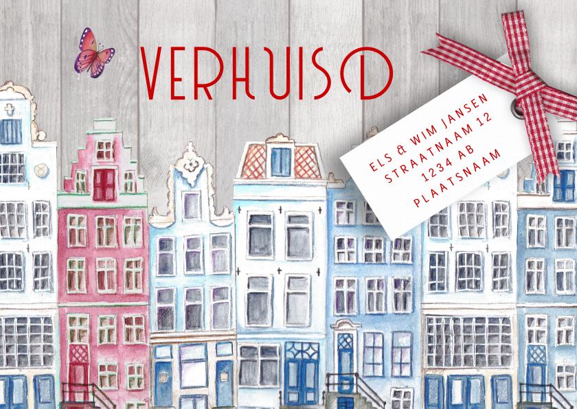 Verhuiskaarten - Verhuiskaart Hollands HUIS rood wit blauw