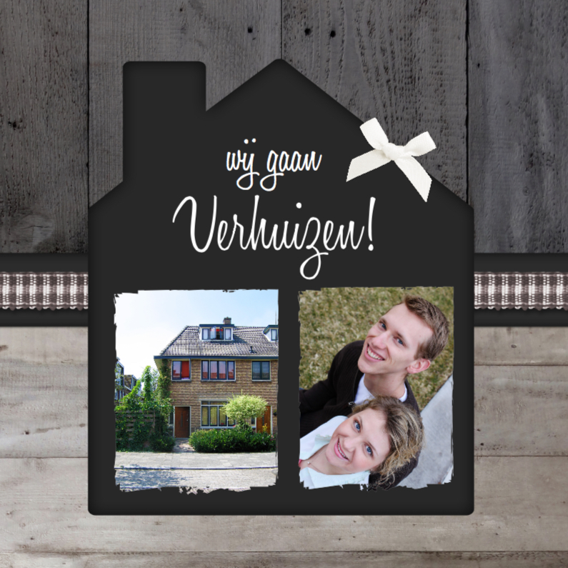 Verhuiskaarten - Verhuiskaart Huisje Hout Foto's