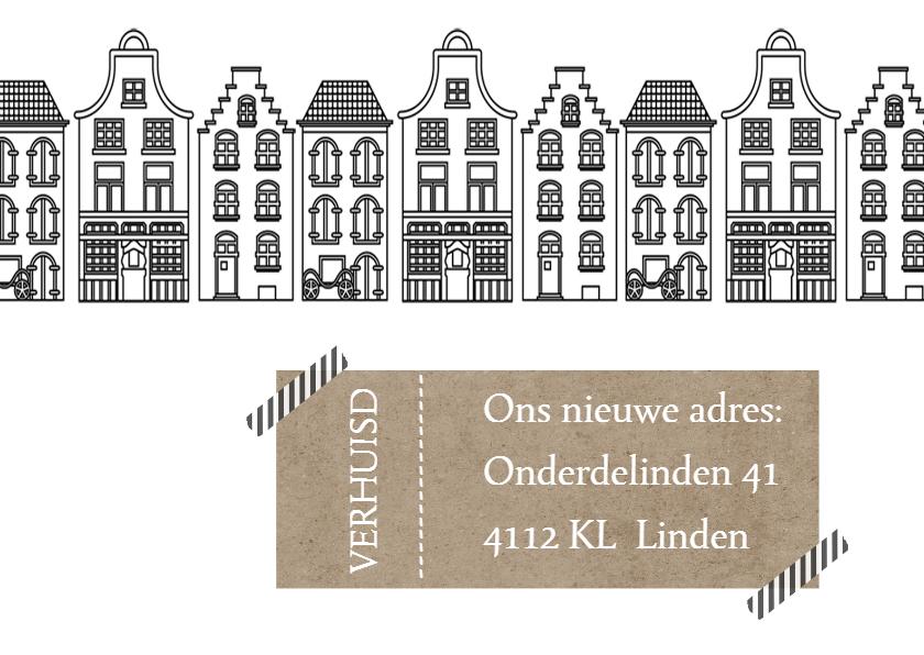 Verhuiskaarten - Verhuiskaart Huisjes