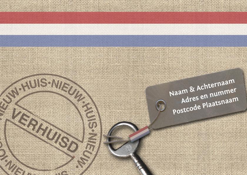 Verhuiskaarten - Verhuiskaart jute en stempel