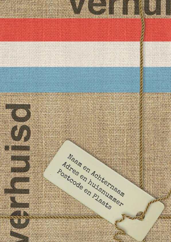 Verhuiskaarten - Verhuiskaart Jute en touw