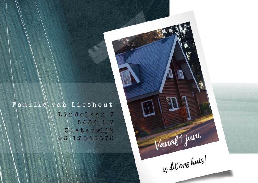 Verhuiskaarten - Verhuiskaart met foto en potloodstrepen