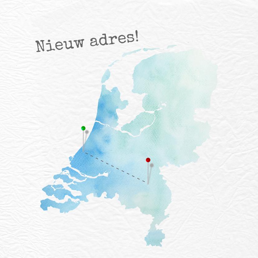 Verhuiskaarten - Verhuiskaart met kaart van Nederland