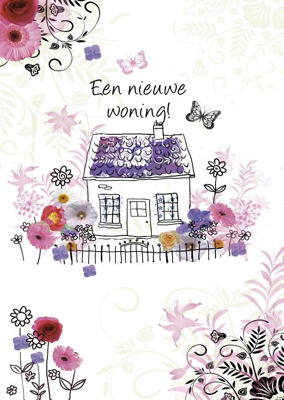 Verhuiskaarten - Verhuiskaart met nieuwe woning