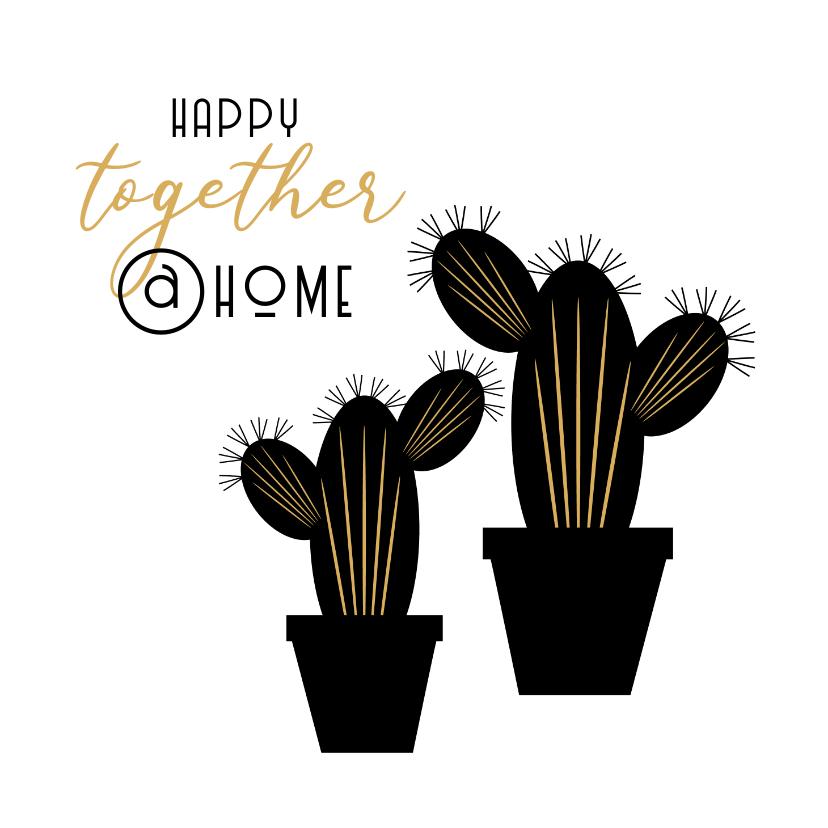 Verhuiskaarten - Verhuiskaart samenwonen cactus