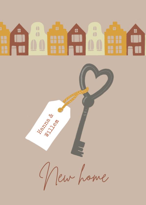 Verhuiskaarten - Verhuiskaart sleutel en huizen