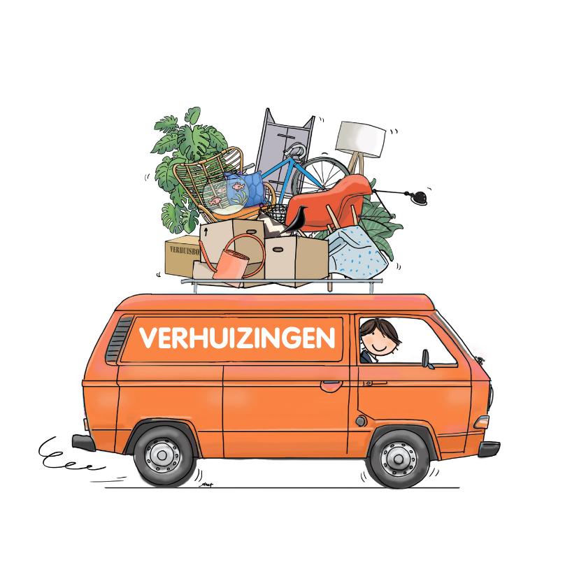 Verhuiskaarten - Verhuiskaart T3 bus oranje