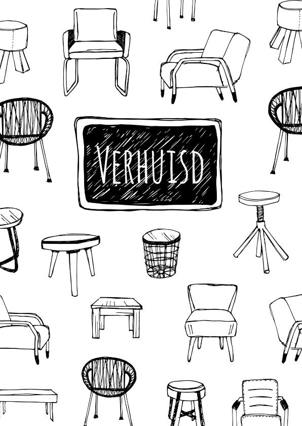 Verhuiskaarten - Verhuiskaart trendy meubels