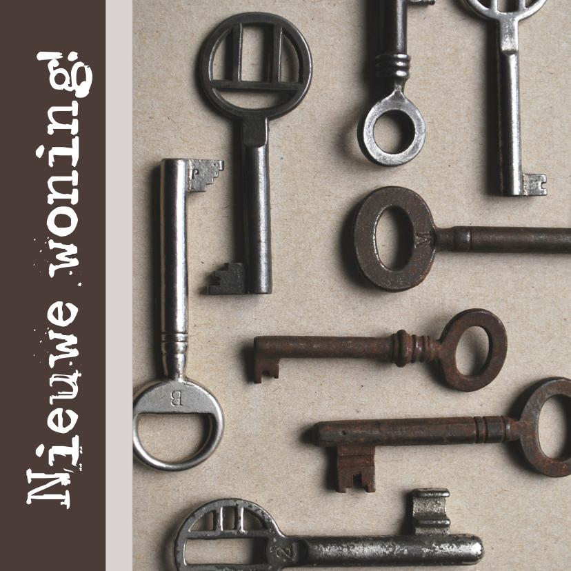 Verhuiskaarten - Verhuiskaart vierkant sleutels