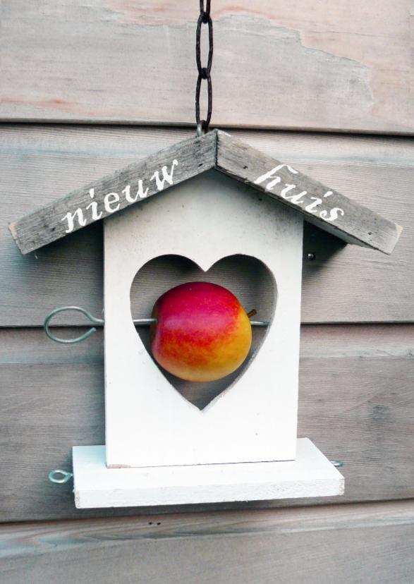 Verhuiskaarten - Verhuiskaart vogelhuisje hart
