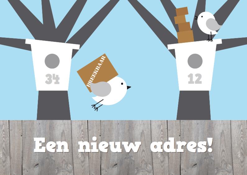 Verhuiskaarten - Verhuiskaart vogelhuisjes