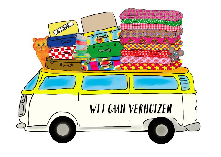Verhuiskaarten - Verhuiskaart VW Bus PA