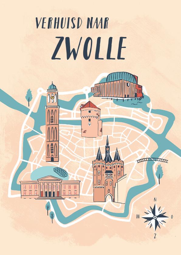 Verhuiskaarten - Verhuizen naar Zwolle
