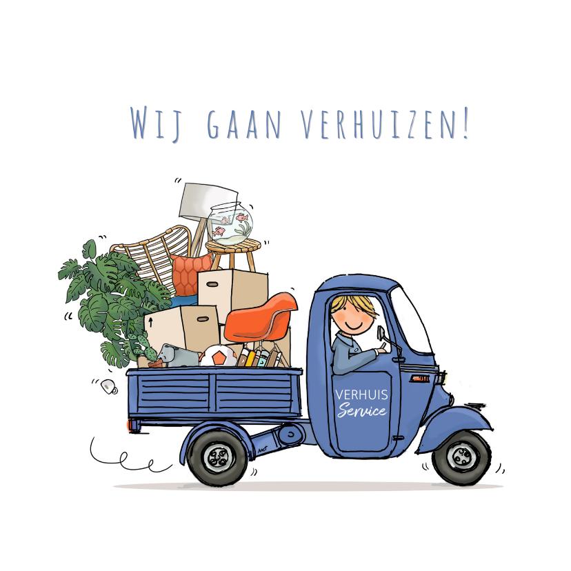 Verhuiskaarten - Vespa Ape verhuisauto