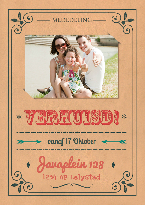 Verhuiskaarten - Vintage poster verhuisd 1LS3