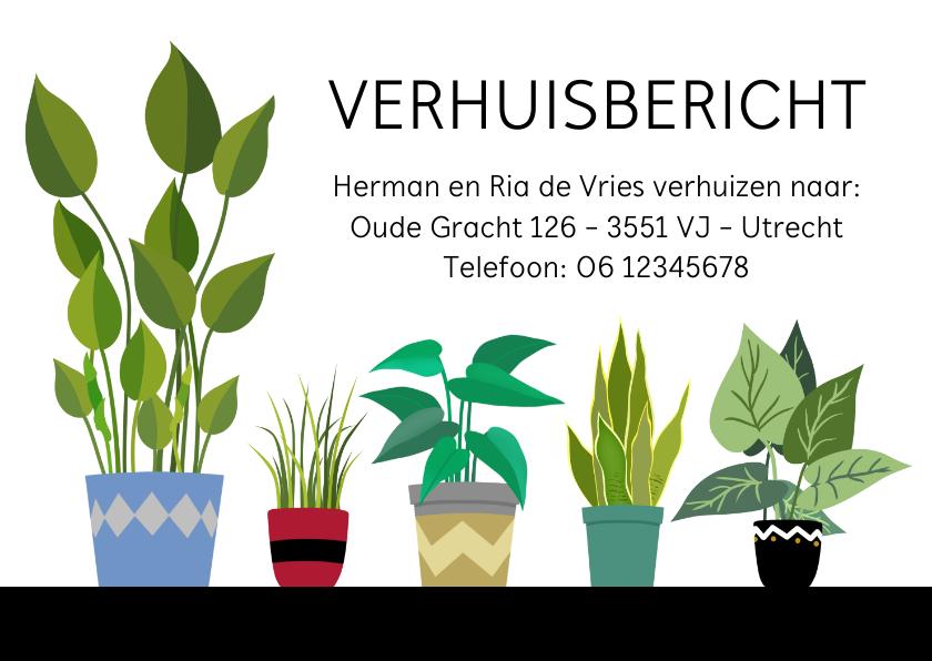 Verhuiskaarten - Vlotte verhuiskaart met verschillende planten