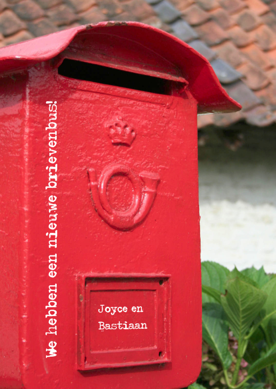 Verhuiskaarten - We hebben een nieuwe brievenbus
