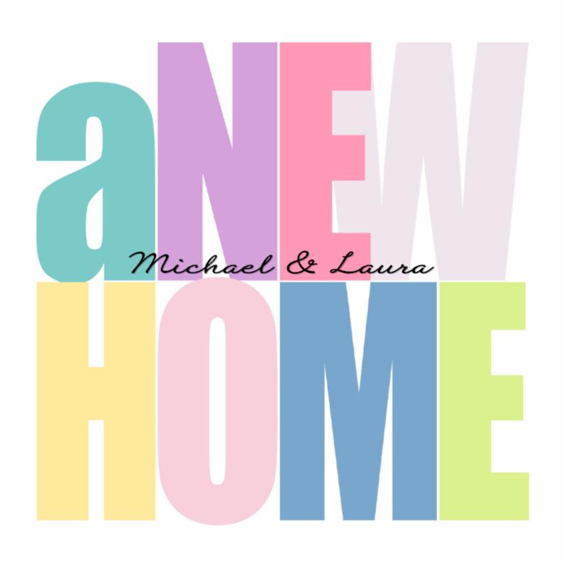 Verhuiskaarten - Woorden A New Home - BK