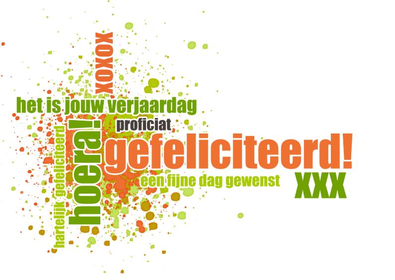 Verjaardagskaarten - 13061 Verjaardagskaart xoxox