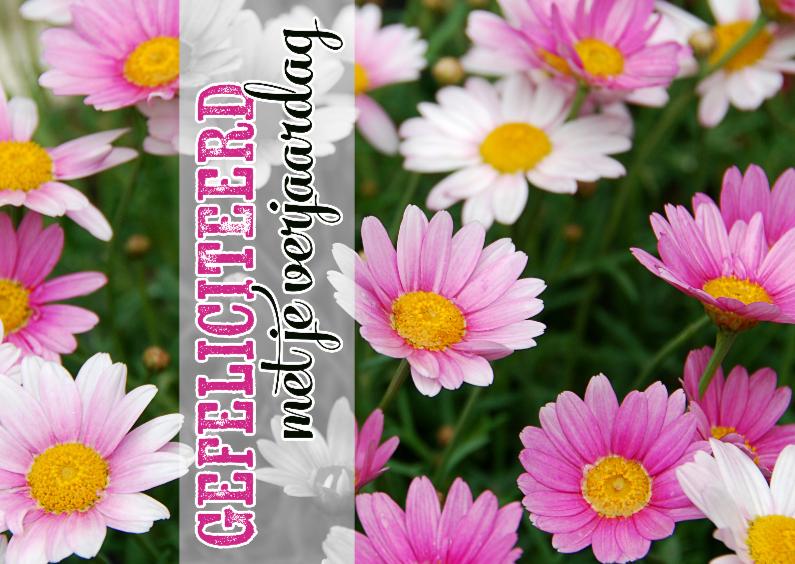 Verjaardagskaarten - 15271 Verjaardagskaart bloemen