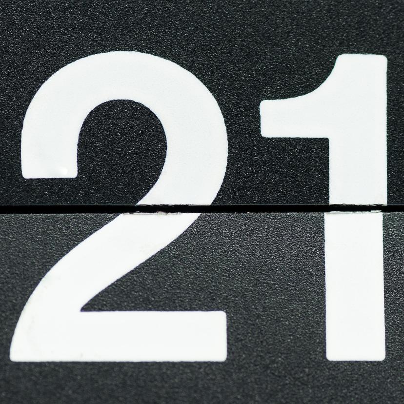 Verjaardagskaarten - 21 van omklapcijfers