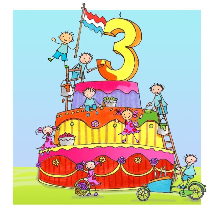 verjaardagskaart 3 jaar 3 jaar AIllustraties   Verjaardagskaarten | Kaartje2go verjaardagskaart 3 jaar