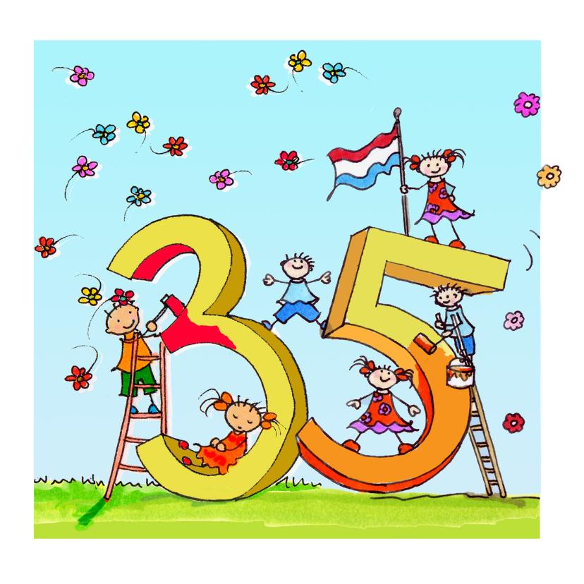 35 Jaar Anet Illustraties Verjaardagskaarten Kaartje2go