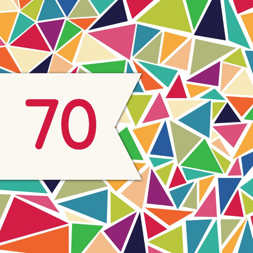 Verjaardagskaarten - 3hoek verjaardag senior - DH