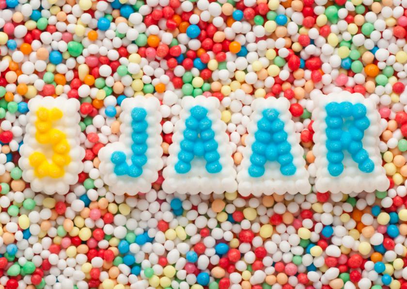 Verjaardagskaarten - 5 JAAR van suikerletters