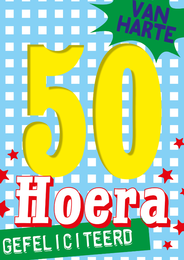 hoera 50 jaar 50 jaar sarah abraham hoera  | Kaartje2go hoera 50 jaar