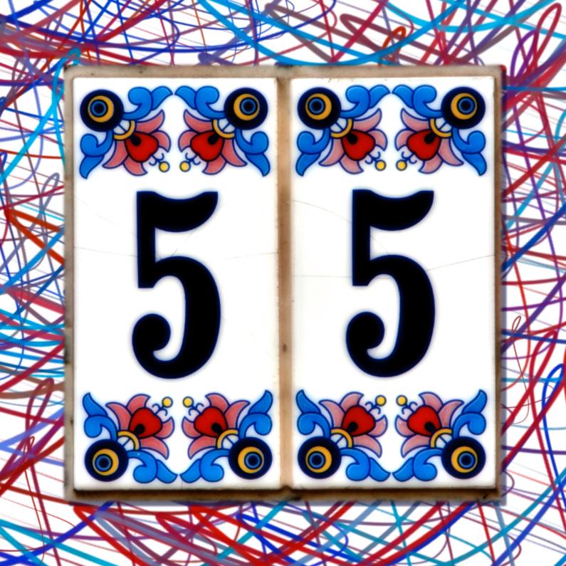 Verjaardagskaarten - 55 jaar tegel