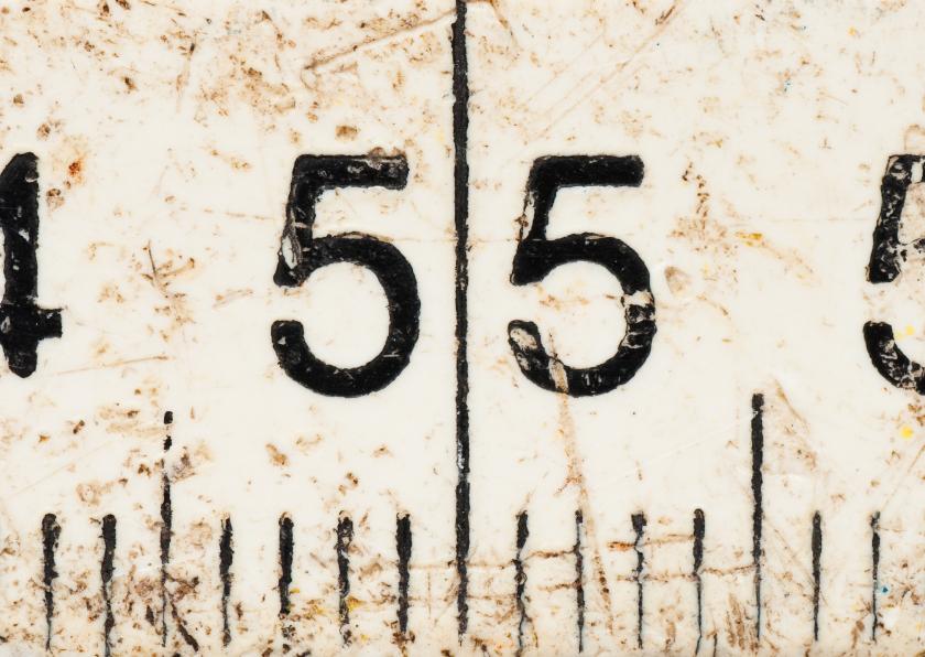 Verjaardagskaarten - 55 op oude witte duimstok