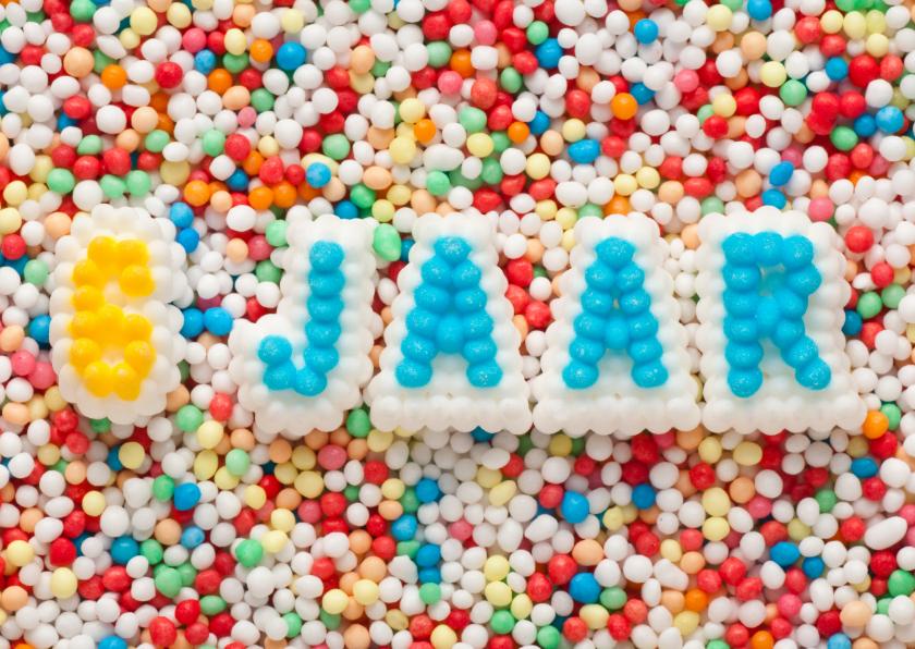 Verjaardagskaarten - 6 JAAR van suikerletters