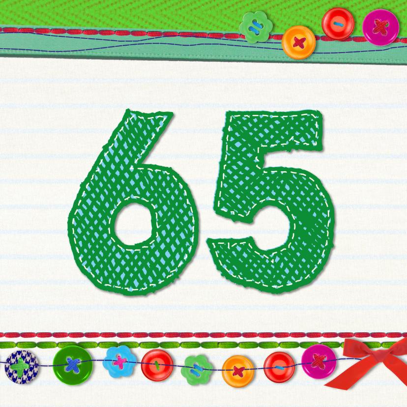 Verjaardagskaarten - 65 jaar verjaardag -BF