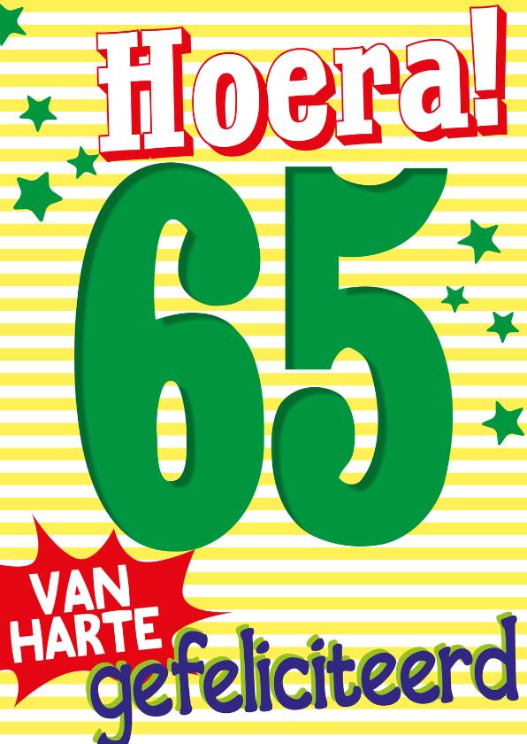 Verjaardagskaarten - 65 van harte gefeliciteerd -BF