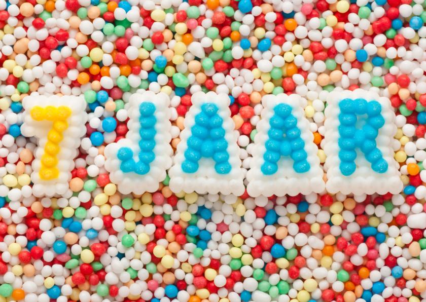 Verjaardagskaarten - 7 JAAR van suikerletters