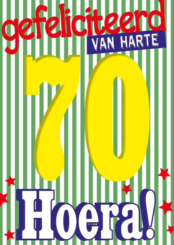 Verjaardagskaarten - 70 jaar van harte hoera -BF