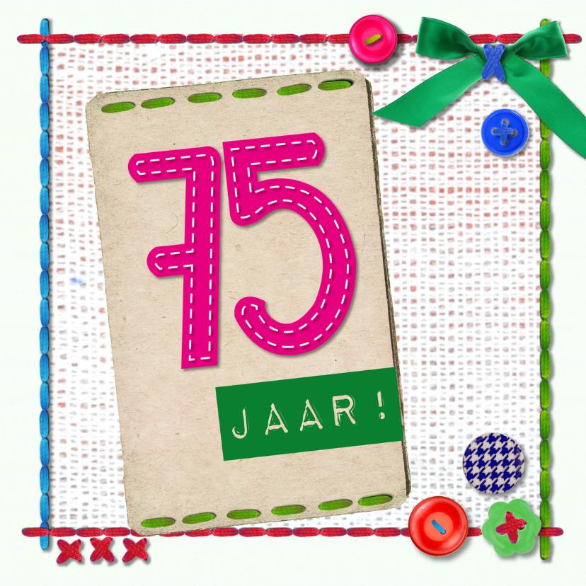 Verjaardagskaarten - 75 jaar vijfenzeventig -BF