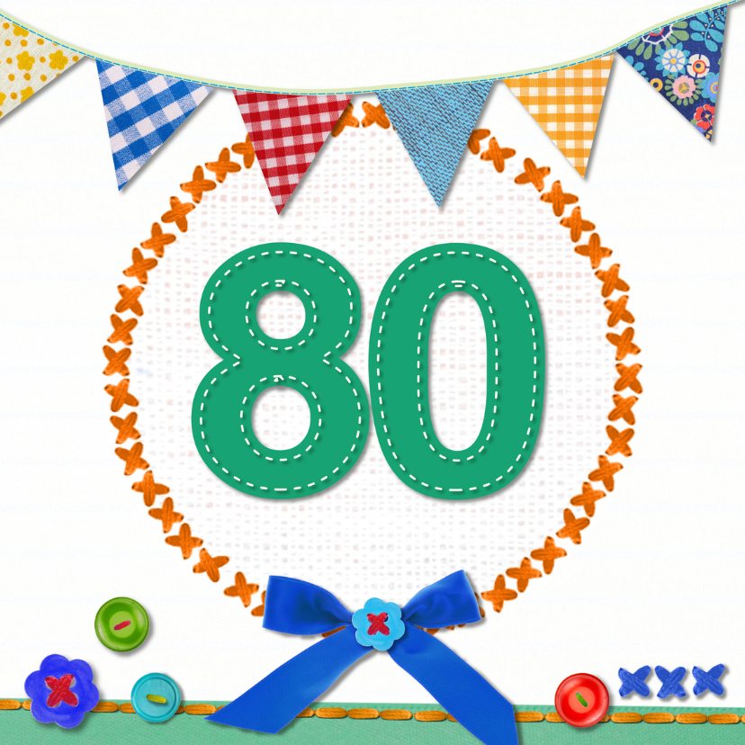 Verjaardagskaarten - 80 jaar  verjaardag -BF