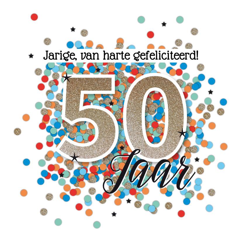 Verjaardagskaarten - Abraham 50 jaar felicitatie kaart verjaardag