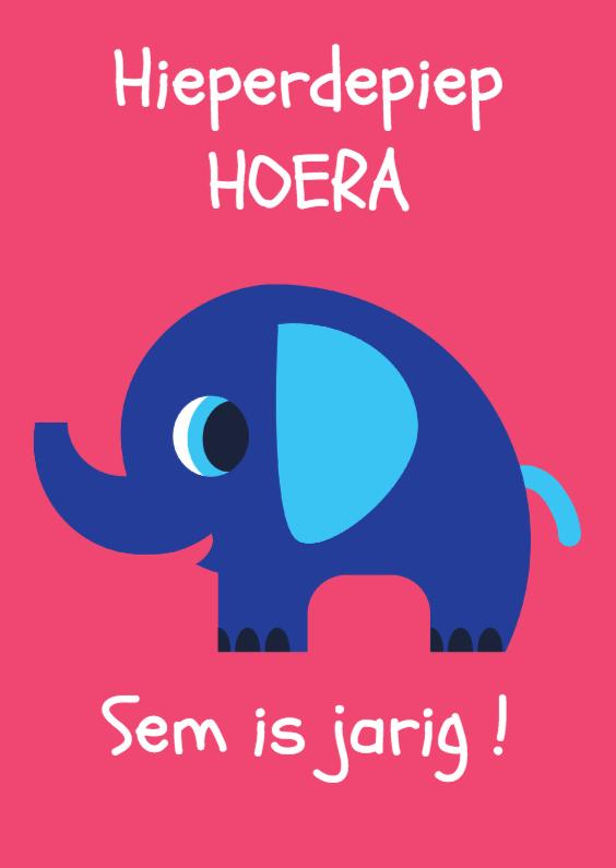 Verjaardagskaarten - ANIMALS-olifant