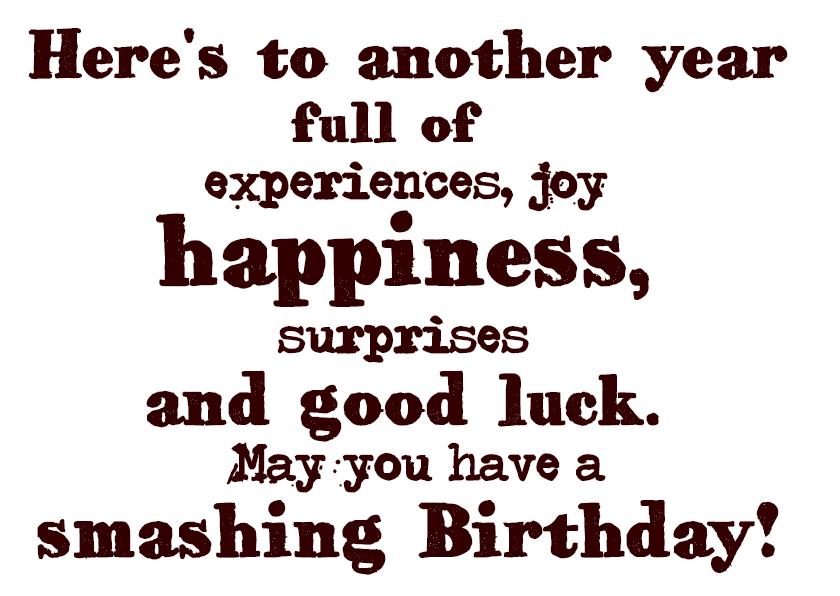Verjaardagskaarten - Another year full of happiness