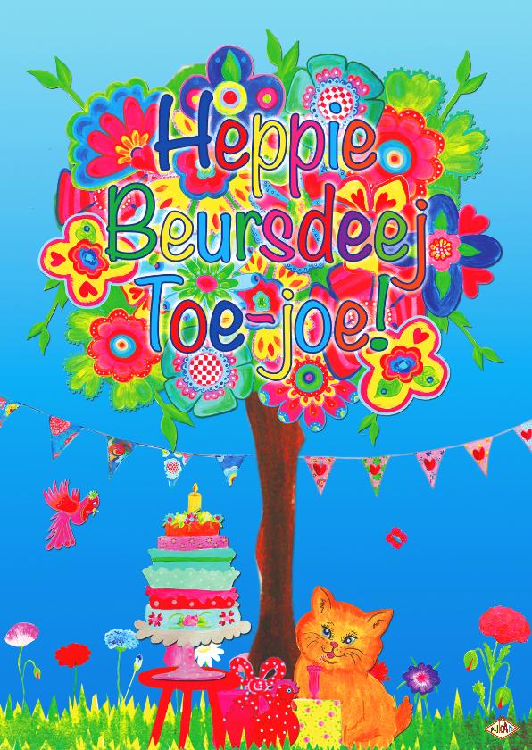 Verjaardagskaarten - Ansichtkaart Heppie PA