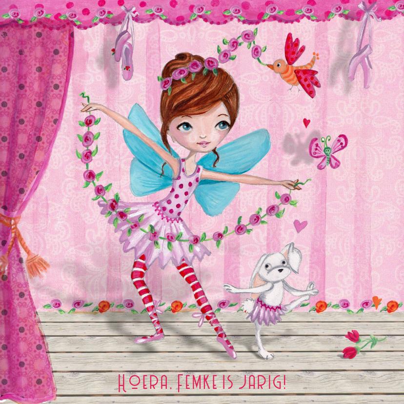 Verjaardagskaarten - Ballerina Ballet Jarig